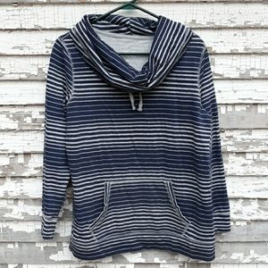Made for life striped cowlneck light sweatshirt.